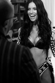 Adriana Lima at Victoria`s Secret fitting