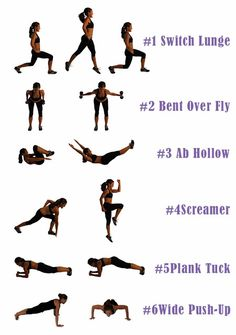 2 Cross Fit style workouts: *WarmUp & CoolDown on your own. Workout Option 1 Rep Total = 1 min of each exercise, 3 rounds, count every rep (i.e. you did 35 screamers in minute one, start counting from 36 in minute two).  GOAL: complete more reps with each round. | Workout Option 2 AMRAP (as many reps as possible) = 12 reps of each exercise, no rest,. GOAL: perform as many rounds of the 6  exercises as you can in 15 minutes. @Lindsay Brin & Moms Into Fitness