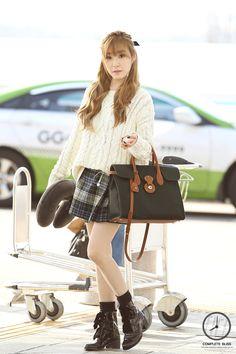 SNSD Tiffany Airport Fashion 140906 2014