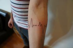 heart rate tattoo - Google Search