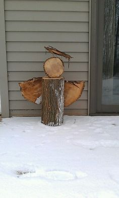Wood angel ~ would to make a grouping of 3, varying heights and some distressed…