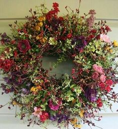 House Beautiful house of beauty corona Dried Flower Wreaths, Wreaths And Garlands, Autumn Wreaths, Holiday Wreaths, Dried Flowers, Door Wreaths, Deco Floral, Arte Floral, Corona Floral