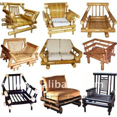bamboo couch and chairs shower lowes furniture sofa pinte bed corner arm chair gb 12015