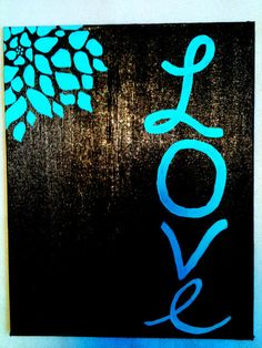 """Love"" Canvas Painting"