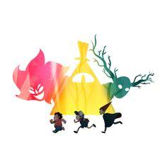 Steven Universe + Gravity Falls + Over The Garden Wall t shirt!!