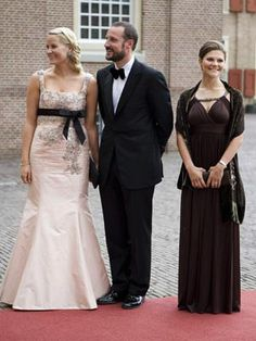 Crown Princess Mette-Marit and Crown Prince Haakon of Norway and Crown Princess Victoria of Sweden