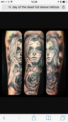 9a368d60c Day Of Dead Tattoo, Sugar Skull Girl, Santa Muerte, Day Of The Dead