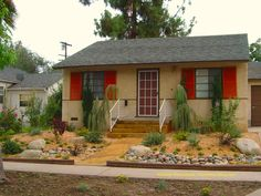 California Drought Resistant Landscaping Ideas   Drought tolerant xeriscape front yard no lawn