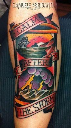 Samuele Briganti traditional tattoo