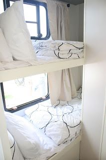 """Wow. Amazingly well done """"white / black"""" RV Reno. Beautifully done ... click through and see her results."""