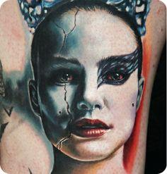 Black Swan tattoo by Rich Pineda