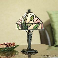 Interiors 1900 Willow Tiffany Mini Table Lamp