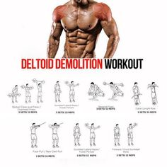 Deltoid workout - Top 5 Muscle Building Workouts You Should Be Doing – Deltoid workout Fitness Workouts, Tips Fitness, Gym Workout Tips, Weight Training Workouts, Body Fitness, Fitness Studio Training, Bodybuilding Training, Bodybuilding Workouts, Workout Routines