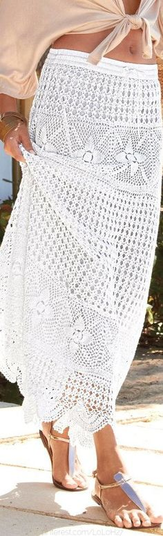 Detailed skirt pattern in English @shannonml16 it's my skirt that you gave me only in white!