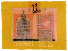 """Massimo Gasperini: """"ADMM-Architettura e civiltà in crisi-III"""" - Tecnica mista (transfer, china e matita) su carta oleata - 32 X 40 - 2016"""