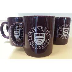 £4.99 Purple china mug featuring the University logo on both sides.