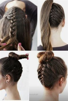 Top 7 Most Beautiful Braid Styles Braid hair can be made in different styles .SO here are some beautiful braid styles to copy right now. Easy Hairstyles For Long Hair, Everyday Hairstyles, Trendy Hairstyles, Braided Hairstyles, Black Hairstyles, Wedding Hairstyles, Amazing Hairstyles, Short Haircuts, Fast Hairstyles