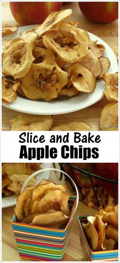Baked Apple Chips - Such an easy recipe - just slice and bake!