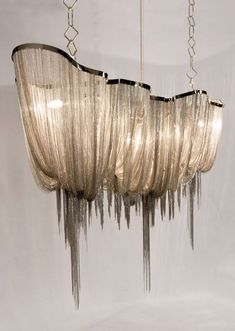 jellyfish tentacle chandelier