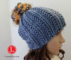The Farrow stitch hat is a rich in texture and warmth. It's a Free loom knitting pattern for the Extra Large circular loom. I used a 41-peg Knifty knitter .