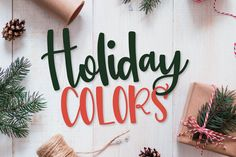 Holiday Colors - A Script Print Font TRIO for Christmas! Justina Tracy Other Fonts Font Squirrel, Christmas Fonts, Color Script, Print Fonts, Beautiful Fonts, Card Maker, Premium Fonts, All Fonts, Design Bundles