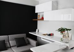 Dpto. Dalias // Escritorio multifuncional //  Sybil Roose (Visybilidad) Design Projects, Interior Design, Multifunctional Furniture, Small Apartments, Dahlias, Interiors, Projects, Design Interiors, Home Interior Design