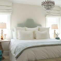 Pretty neutral bedroom via Owens + Davis