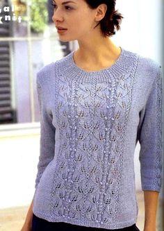 Crochet Top, Pullover, Knitting, Sweaters, Tops, Women, Fashion, Blouse, Moda