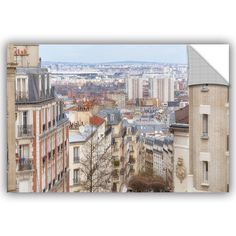 Cora Niele View Over Paris From the Butte Montmartre Removable Wall Decal