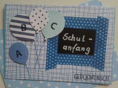 Karte Doppelkarte Glückwunschkarte zur Einschulung - Schulanfang - Stampin up in Möbel & Wohnen, Hobby & Künstlerbedarf, Basteln | eBay