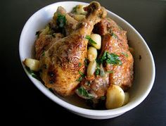 Food 4 Wibowo: Chicken with Forty Cloves of Garlic