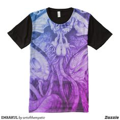 Shop EMRAKUL All-Over-Print T-Shirt created by artofthemystic. Graphite Drawings, Stylish Shirts, Color Filter, S Shirt, My Design, My Style, Artist, Prints, Mens Tops
