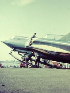 the Convair XF2Y Sea Dart (via the San Diego Air Space Museum Archive on Flickr)