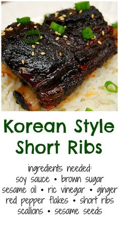 Korean Style Short Ribs (Crockpot) I love cooking dishes of various ethnic cuisines. Doing so adds some fun in our usual meals and it's a great way to appreciate other cultu. Short Rib Recipes Crockpot, Pork Recipes, Cooker Recipes, Asian Recipes, Recipe For Short Ribs, Asian Desserts, Crockpot Meat, Teriyaki Marinade, Asian Food Recipes