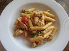 Grilled Chicken Penne Asiago inspired by Milestones