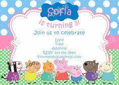 Peppa Pig Invitations on Etsy, $9.00