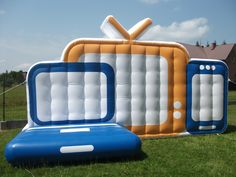 Inflatable Tv, laptop, cell phone