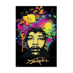 Art.com (13 CAD) ❤ liked on Polyvore featuring home, home decor, wall art, multi, jimi hendrix poster, framed posters, framed wall art and hendrix poster