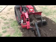 Mini Trencher Homemade mini trencher constructed from a