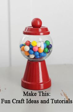 make this: tutorial: how to make individual gumball machine party favors and decorations » Tammy Mitchell Photography
