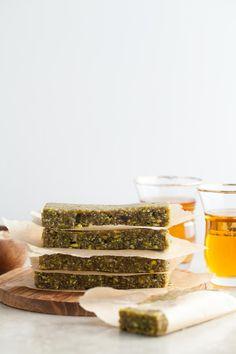 Pistachio & cardamom energy bars #healthy #dessert #recipe #raw #vegan #energy #green #breakfast #bar
