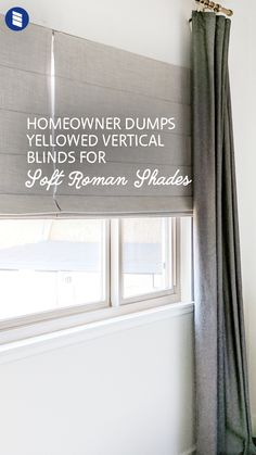 Danae of The Homebody House has been restoring her first home for the last 2 1/2 years and finally ditched her broken vertical blinds for blackout roman shades in the bedroom.