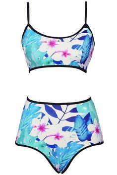 Cupshe Sound of Spring Floral Bikini Set