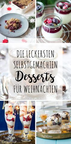 The most delicious home-made desserts for Christmas - Rezepte - Dessert Xmas Desserts, Trifle Desserts, Winter Desserts, Dessert Recipes, Vegan Christmas, Sweets Cake, Healthy Baking, Food Inspiration, Sweet Recipes