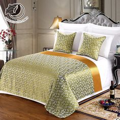 Customized Size Design Hotel Bed Runner And Cushion Set Bedroom Closet Design, Bedroom Decor, African Interior Design, Hotel Bed, Master Bedroom Makeover, Bed Runner, Diy Bed, Bed Covers, Bed Spreads
