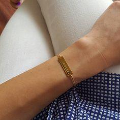 Handstamped bracelet by ATELIER Gaby Marcos