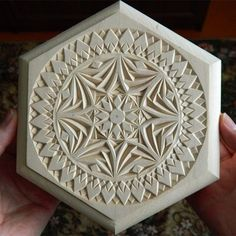 """Kaleidoscope"" #chipcarving #woodwork #woodcarving"