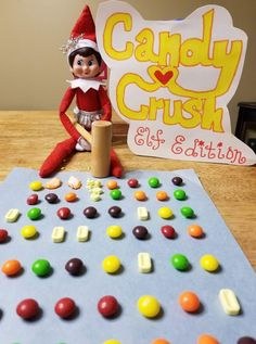 Elf on the shelf candy crush