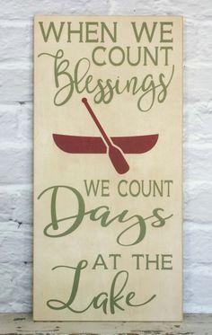 Lake Rules Sign,  Personalized Family Lake Sign, When We Count our Blessings, Lake Days Sign, Boat House Sign, Pool Sign, Patio Decor by MadiKayDesigns on Etsy
