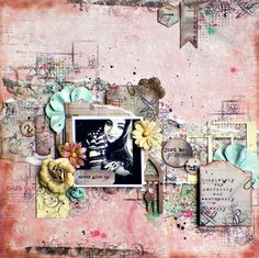 "Never Give Up *Scraps of Elegance* - Scraps of Elegance Kit Club featuring our beautiful March kit ""Annas Daydream"" Please stop by my blog for more details and close ups!  http://lisas-livingincolor.blogspot.com/2015/03/first-reveal-scraps-of-elegance-annas.html"